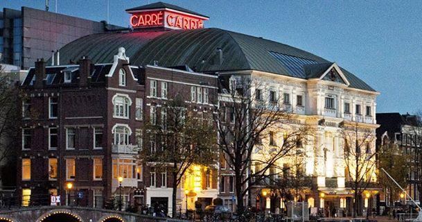 Neon-tekst Koninklijk Theater Carré Amsterdam