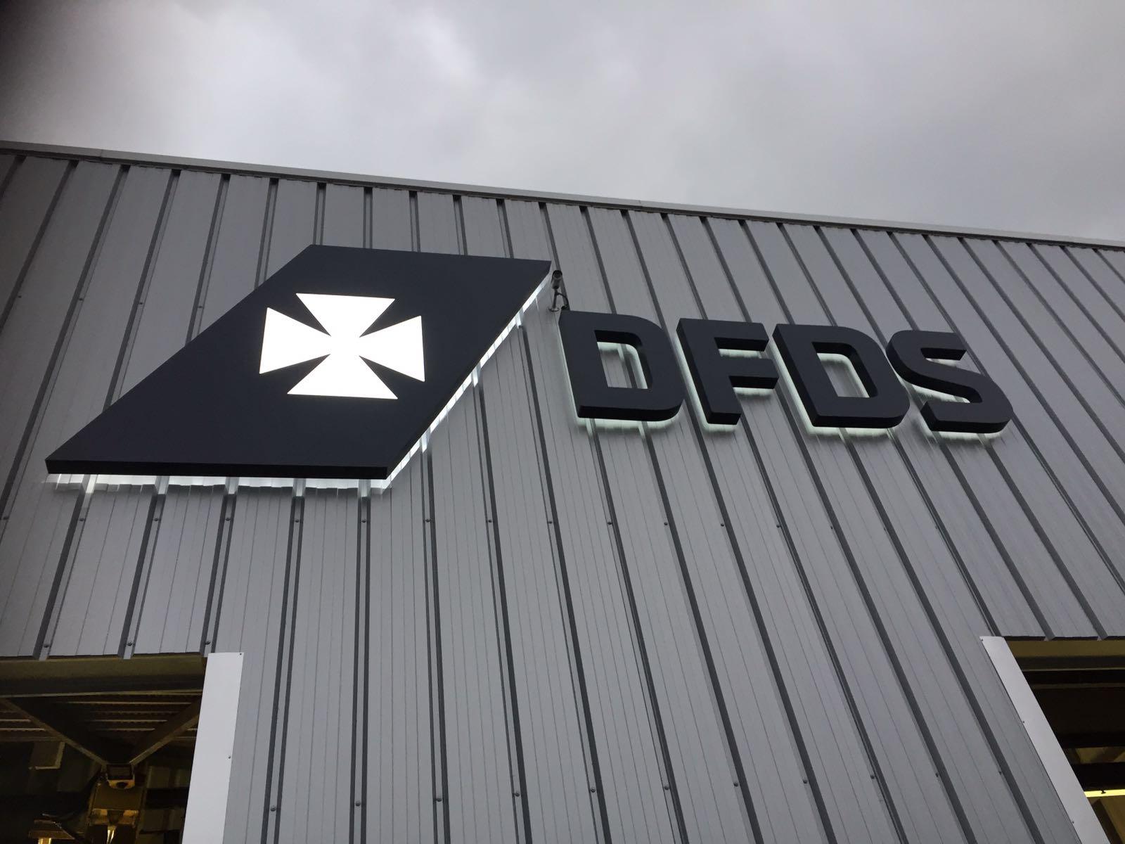 Bewegwijzering DFDS Vlaardingen