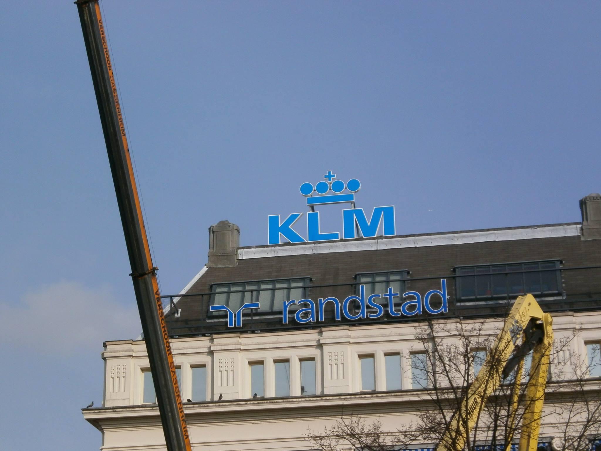 Ombouw Logo KLM Leidseplein