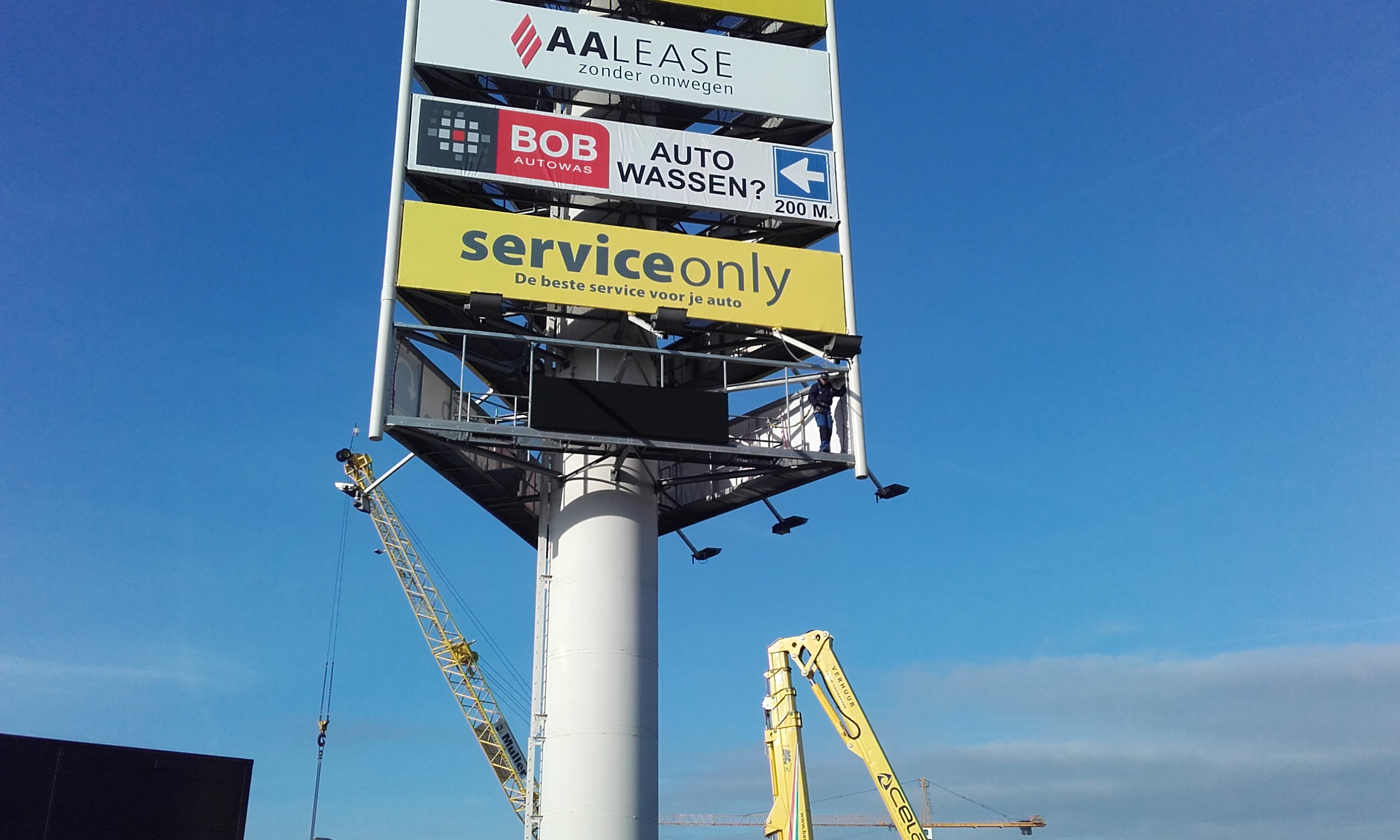 LED Display Reclamemast Dordrecht (N3)